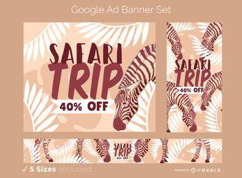 Conjunto de Design de Anúncios do Google no Safari Trip