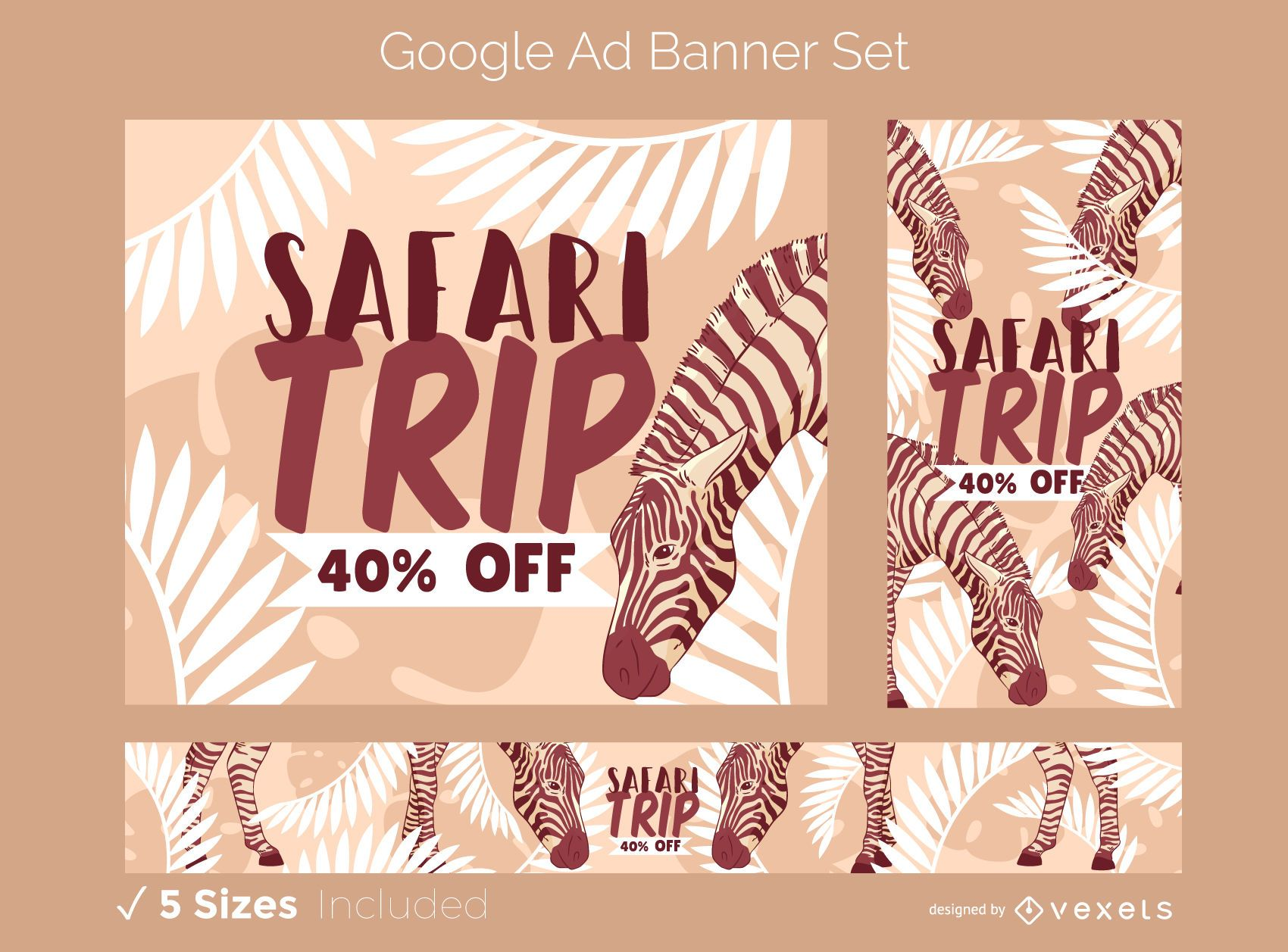 Safari Trip Google Ad Design Set