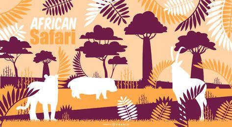 Diseño de fondo de safari africano