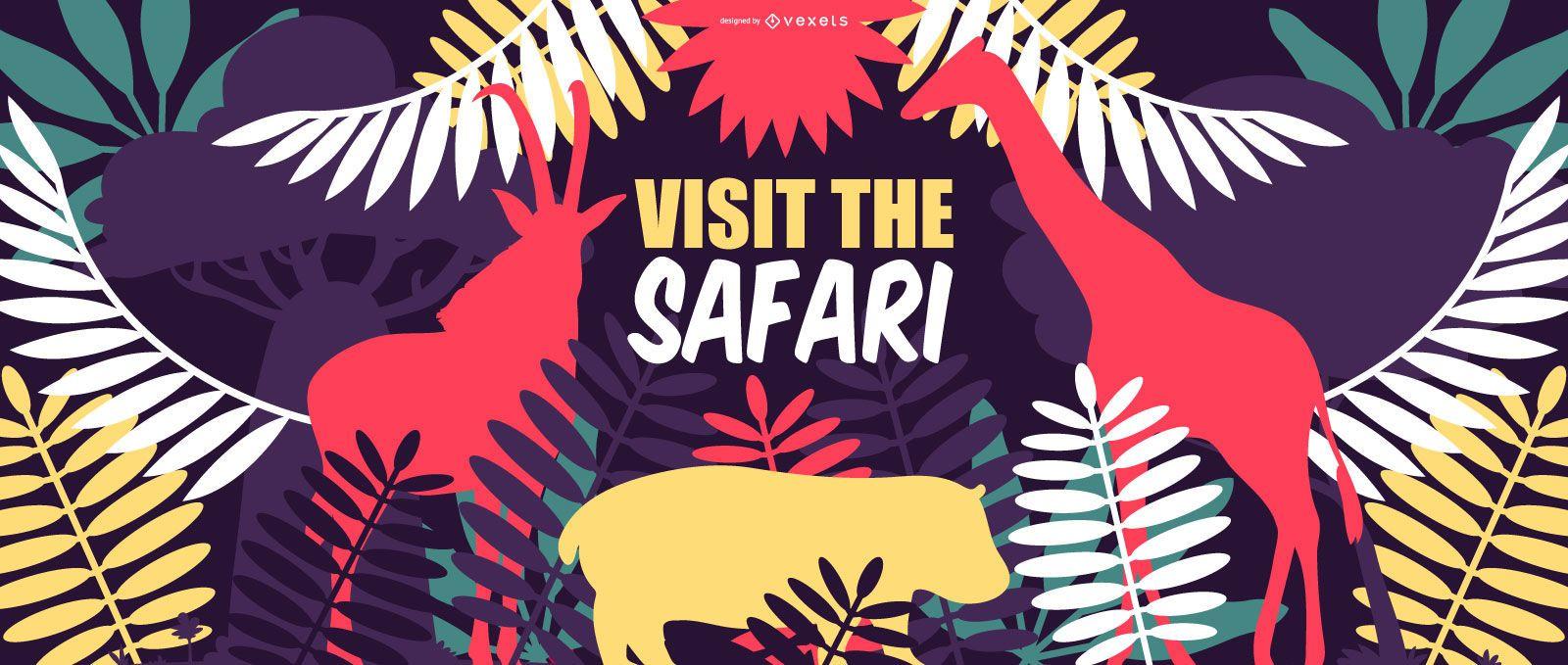 Safari Trip Nature Banner Design