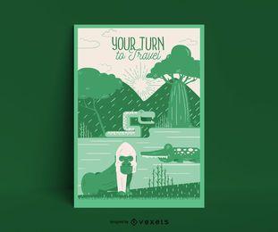 Plantilla de póster de Safari