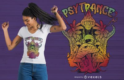 Design psicadélico Trippy do t-shirt de Psytrance