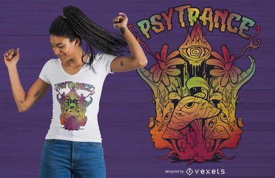 Diseño de camiseta Psytrance Trippy Psychedelic
