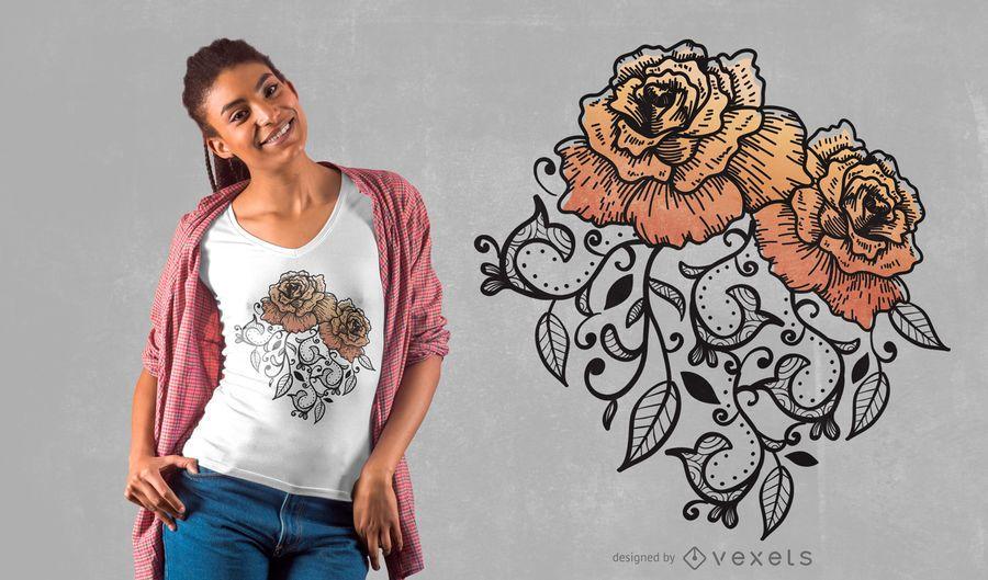 Floral Rose T-shirt Design