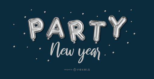 Party-Fahnendesign des neuen Jahres