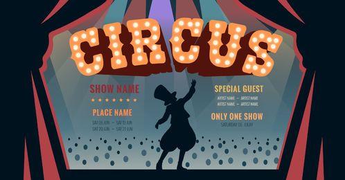 Design gráfico editável de circo