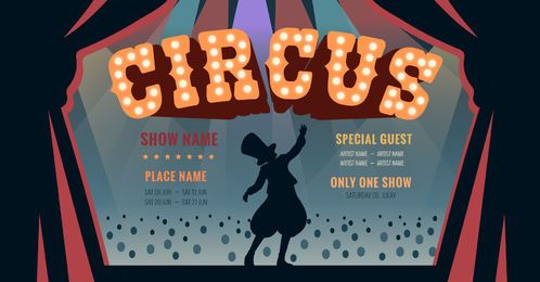 Zirkus editierbares Grafikdesign