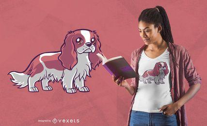 Lindo diseño de camiseta ragnar perro
