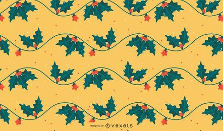 Diseño de patrón de muérdago de Navidad