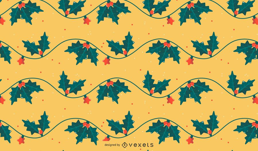 Christmas mistletoe pattern design
