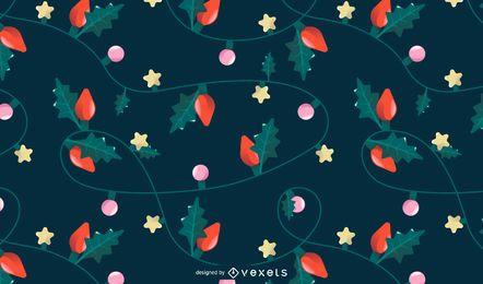 Desenho de padrão de luzes de natal