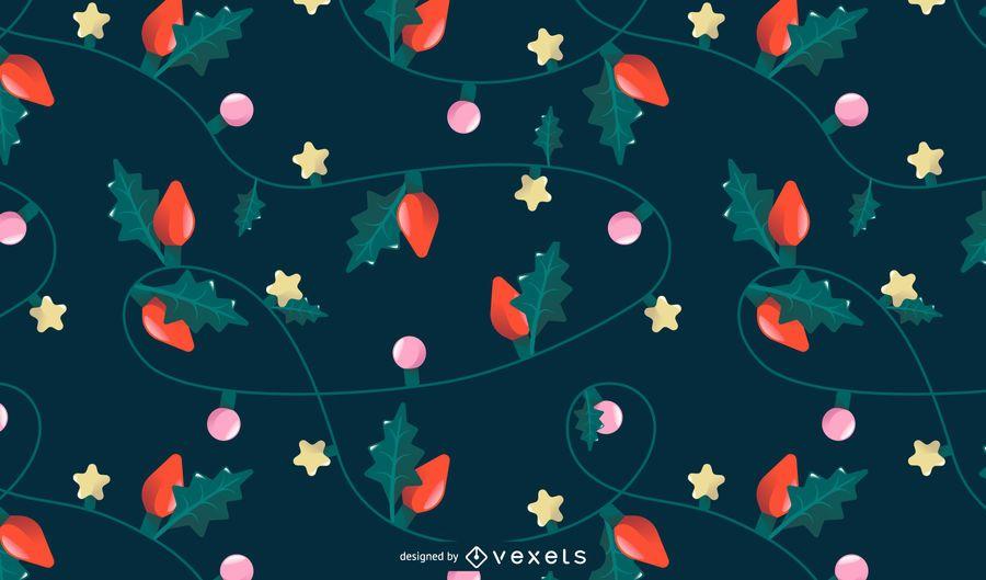 Design de padrão de luzes de Natal