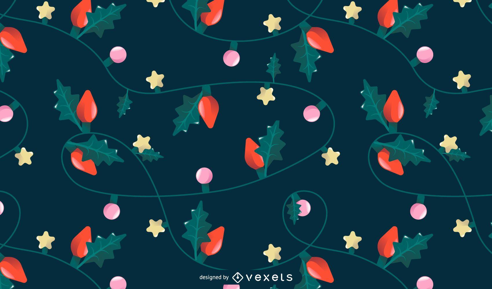 Christmas lights pattern design