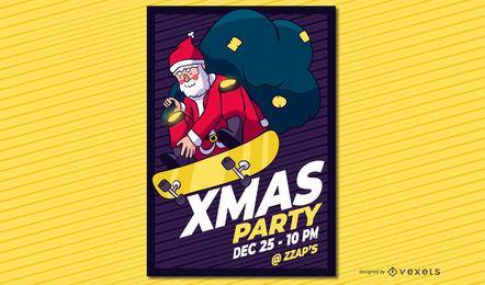 Xmas party santa poster
