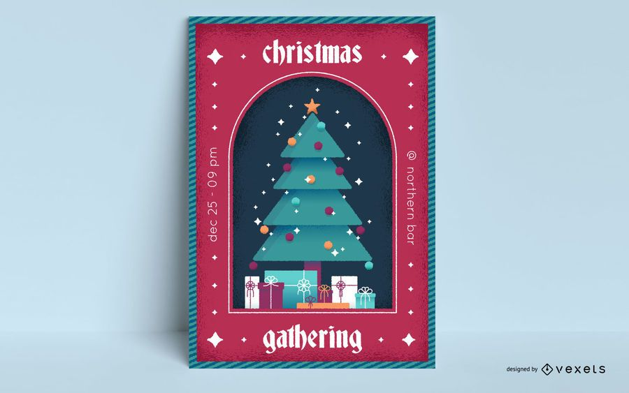 Christmas event tree poster design