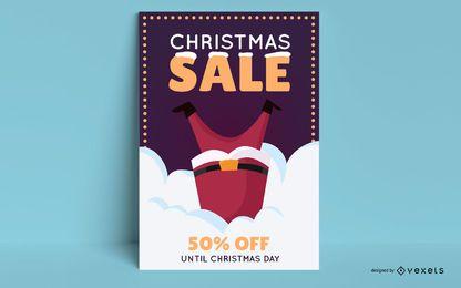 Editierbares Plakat des Weihnachtsverkaufs