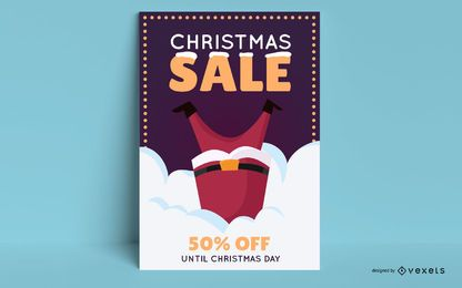 Weihnachtsverkauf bearbeitbares Plakat