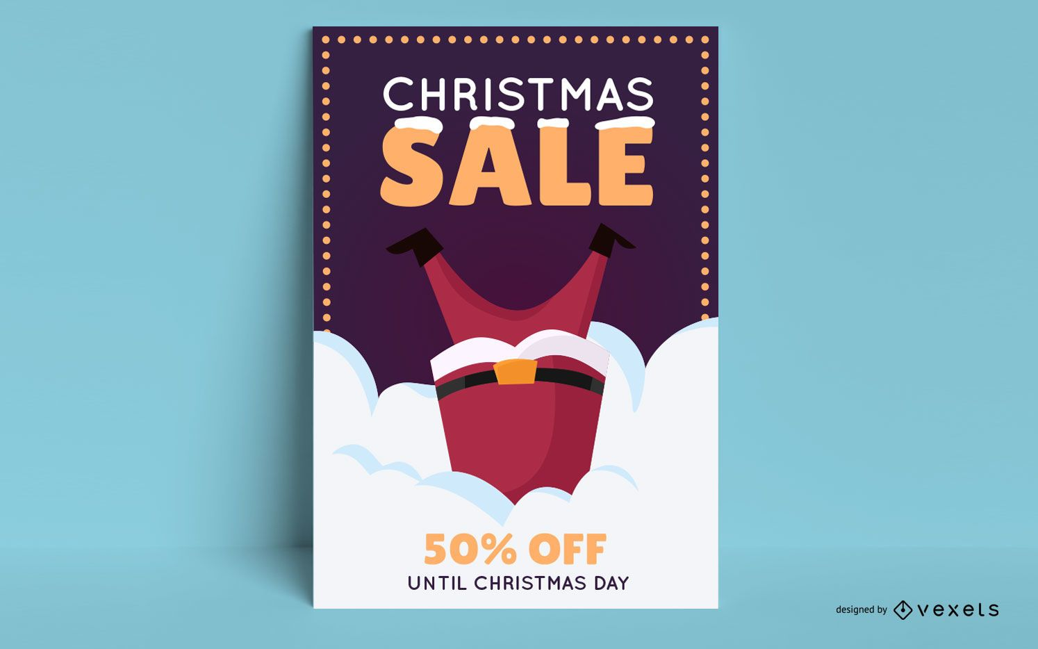 Cartel editable de rebajas de navidad