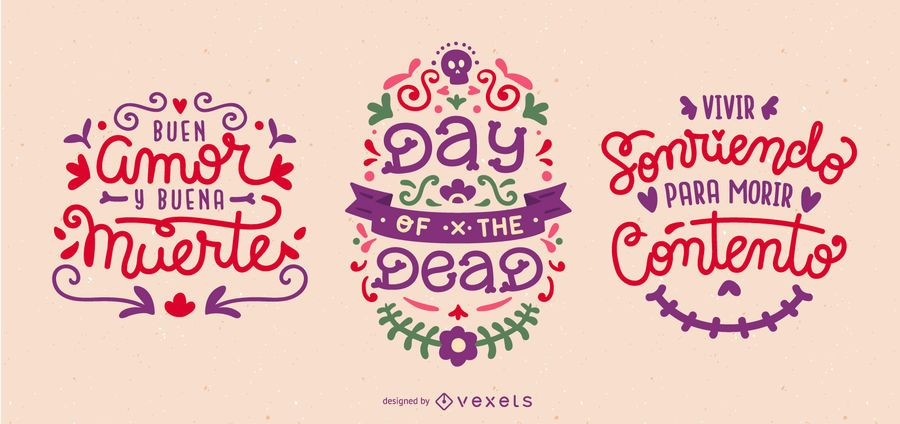 Day of the dead quote set