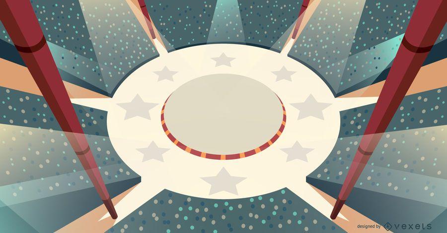 Projeto de ilustração de palco de circo