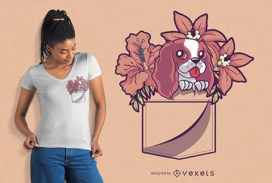 Design de camiseta de cachorro de bolso