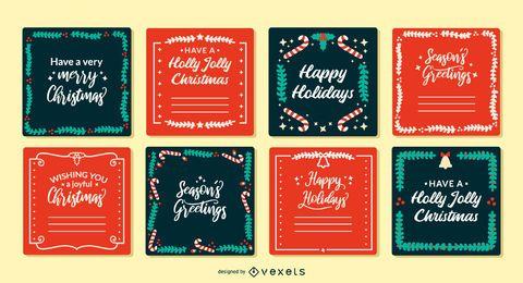 Weihnachtsgrußkarten eingestellt