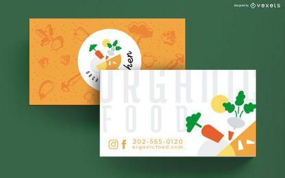 Visitenkarte-Schablone des biologischen Lebensmittels