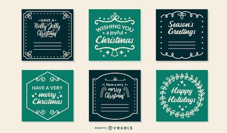 Christmas frames cards set
