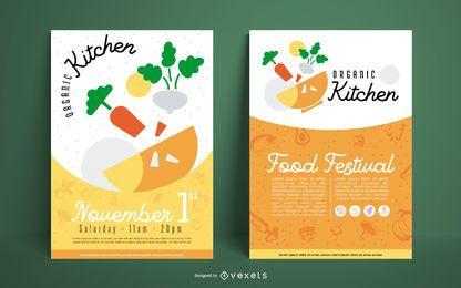 Plantilla de póster de alimentos orgánicos