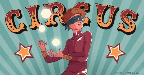 Zirkus Jongleur Menschen Illustration