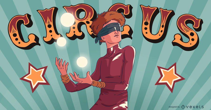 Zirkus-Jongleur-Leute-Illustration