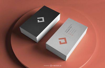 Modelo de maquete profissional de cartão de visita