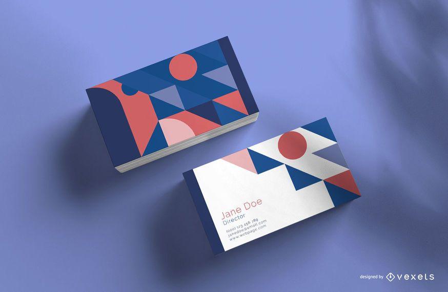 Hermosa maqueta de tarjeta de visita