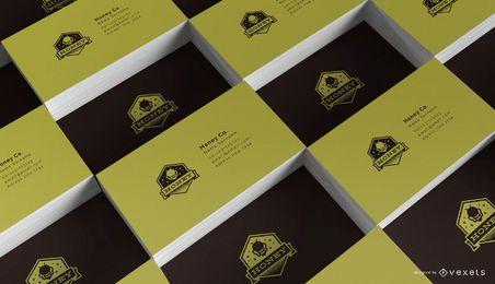 Maqueta de múltiples tarjetas de visita