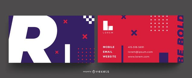 Be bold colorful business card