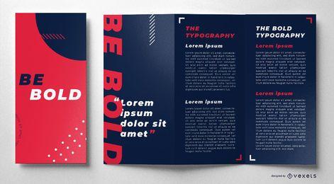 Seja corajoso e colorido design de brochura