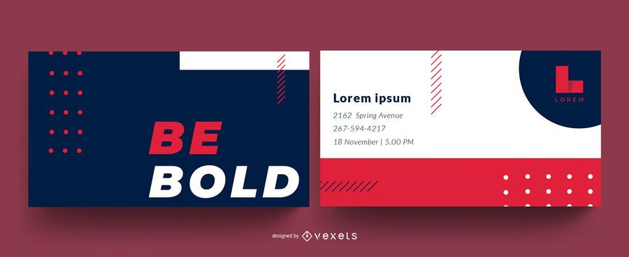 Be bold business card design