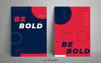 Be bold poster template