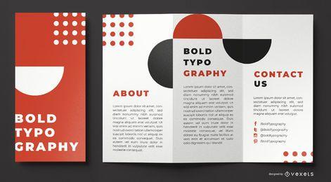 Modelo de brochura - tipografia em negrito