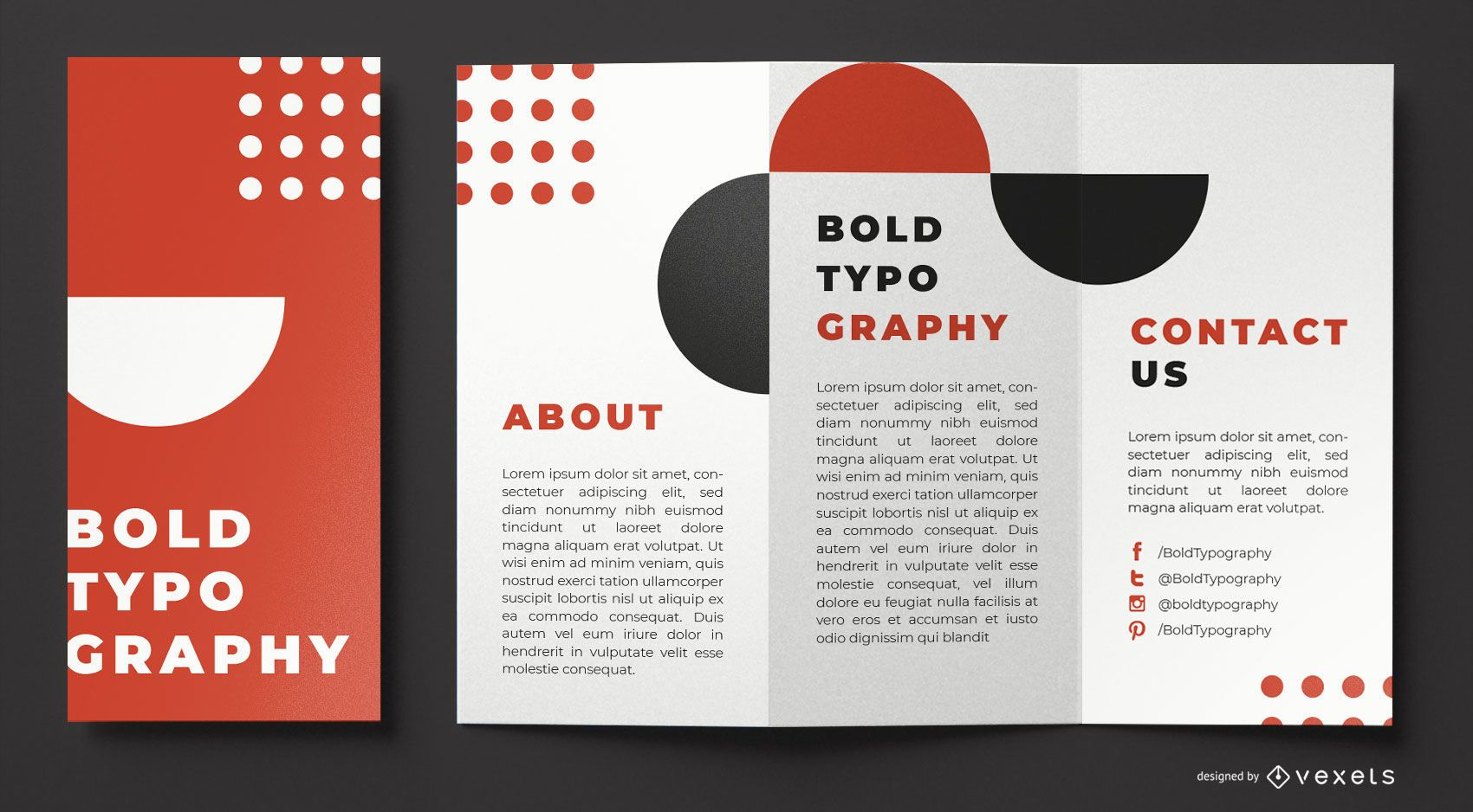 Bold typography brochure template