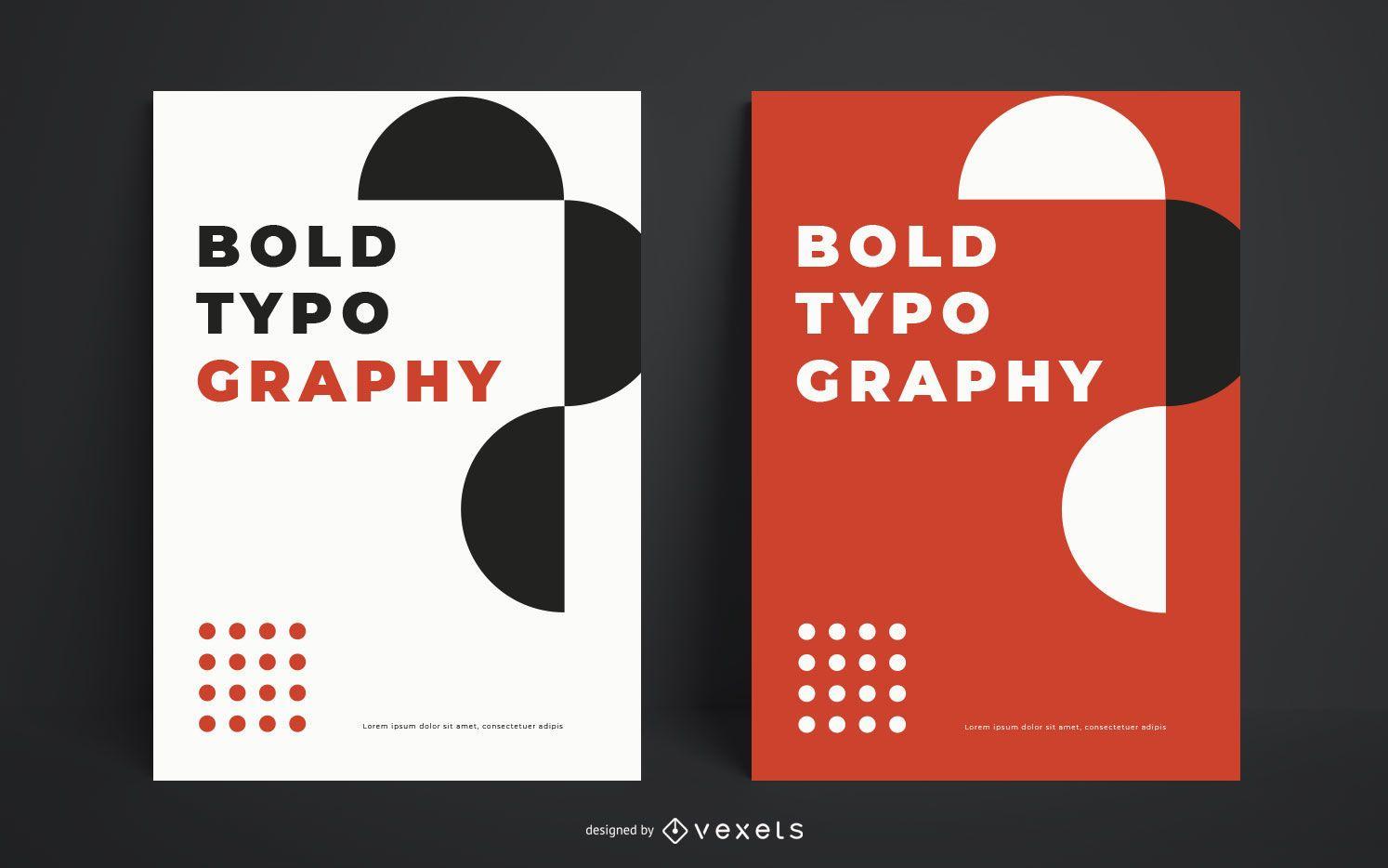 Plantilla de cartel de tipografía atrevida