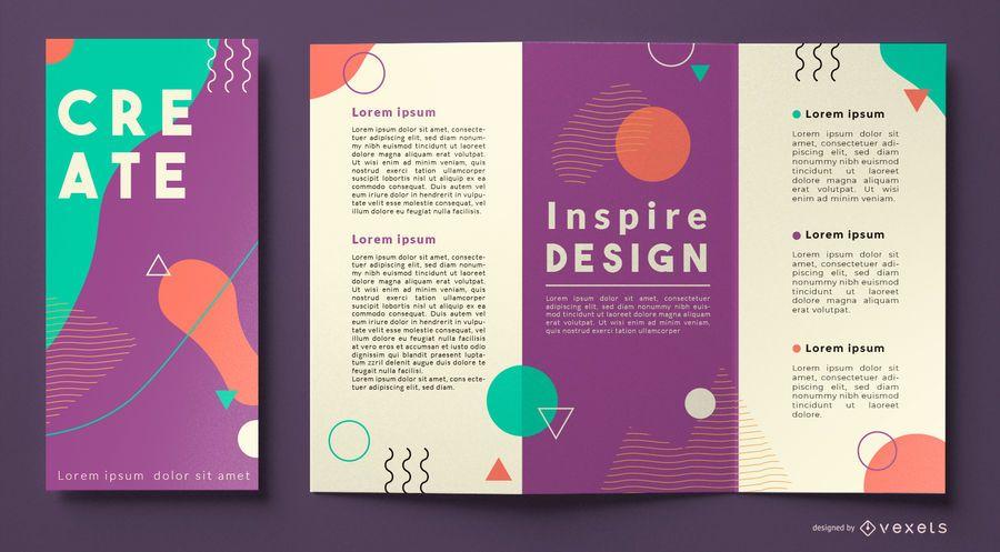 Memphis brochure template