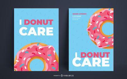 Ich interessiere mich Donut Plakat Vorlage