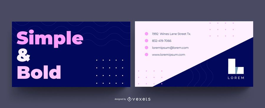Simple Bold Business Card Design