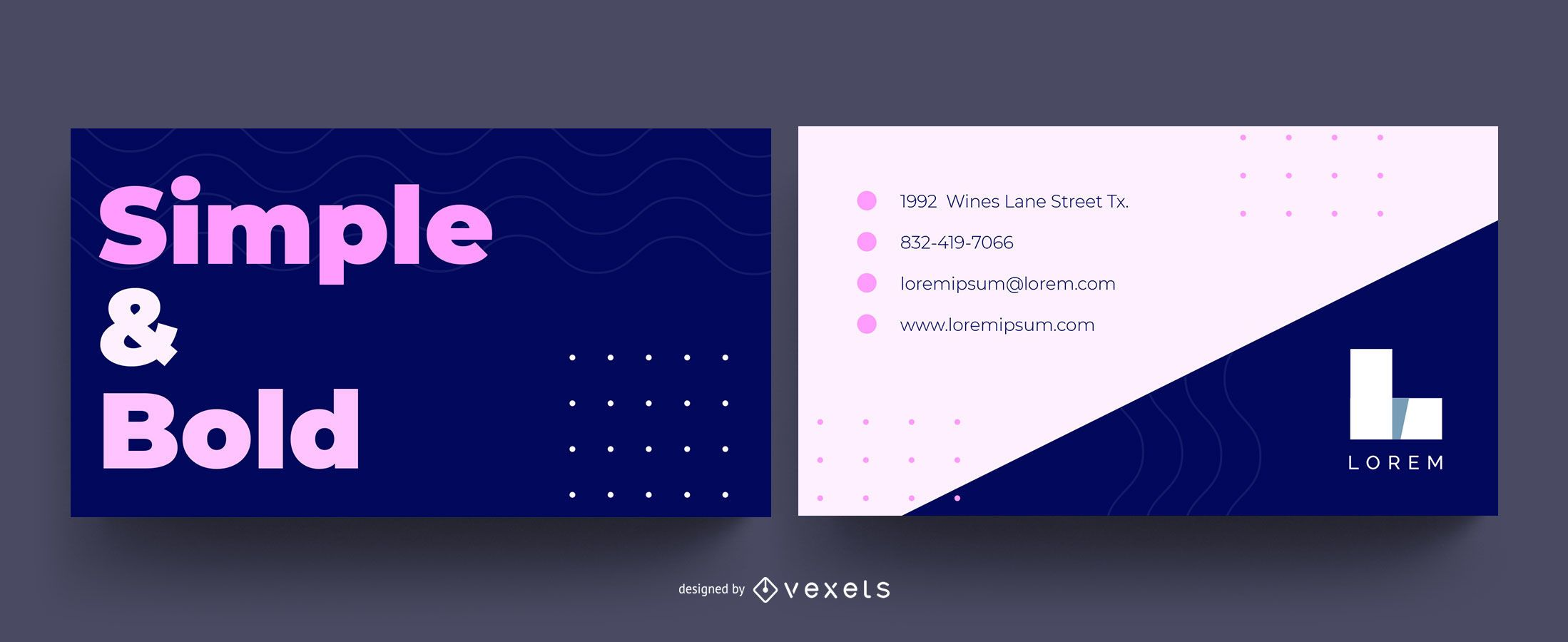 Simple Bold Business Card Design
