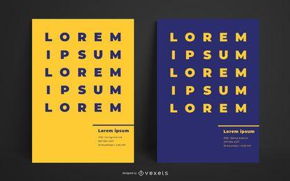 Plantilla de diseño de póster en negrita simple