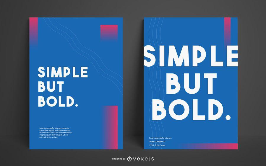 Einfache mutige editierbare Plakat-Schablone