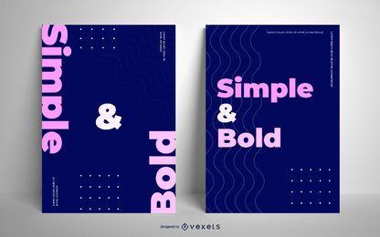Design de cartaz simples e ousado