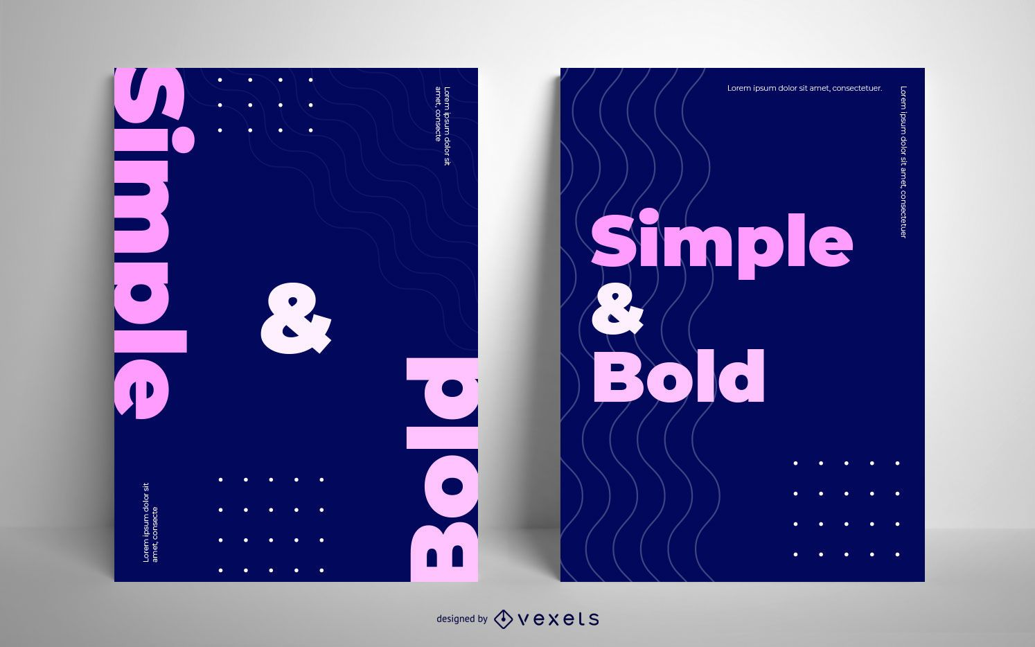 Simple and bold poster design