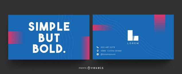 Simple but bold business card